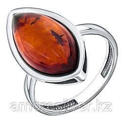 Кольцо Darvin серебро с родием, янтарь коньячный, классика 920041107aa размеры - 19