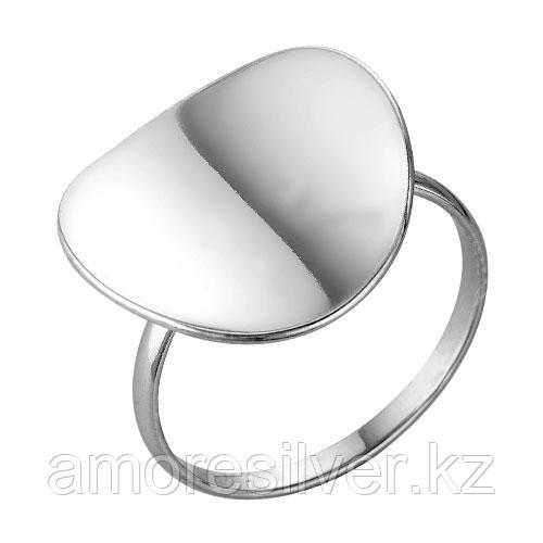 Кольцо Красная Пресня серебро с родием, без вставок, круг 2302662Д размеры - 17