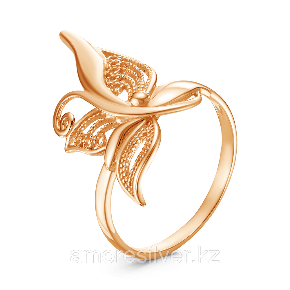Кольцо Красная Пресня серебро с позолотой, без вставок 23011497 размеры - 19