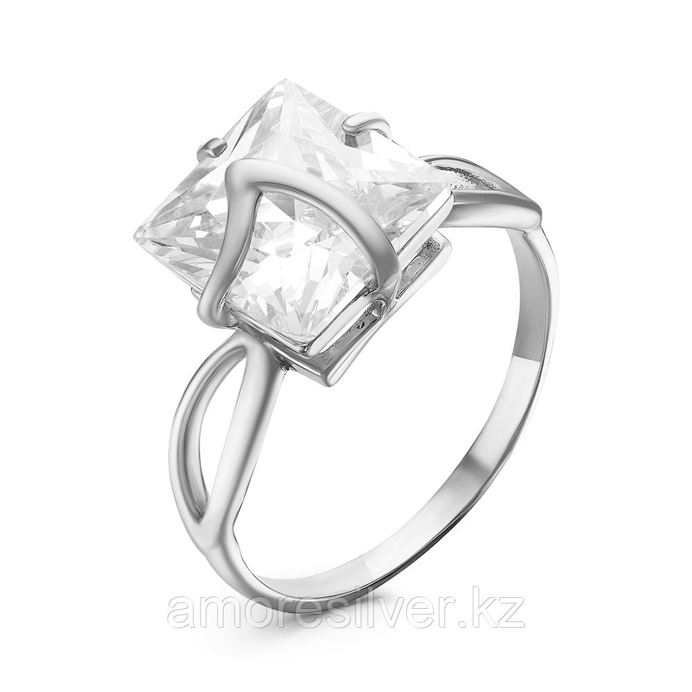Кольцо Красная Пресня серебро с родием, фианит, фантазия 23811424Д размеры - 19