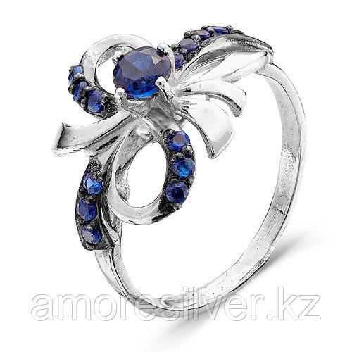 Кольцо Красная Пресня серебро с родием, многокаменка 2387036Д3 размеры - 17,5