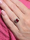 "Кольцо Teosa серебро с родием, рубин нат. (h) фианит иск., ""halo"" R-DRGR00686-RB размеры - 16 18, фото 3"