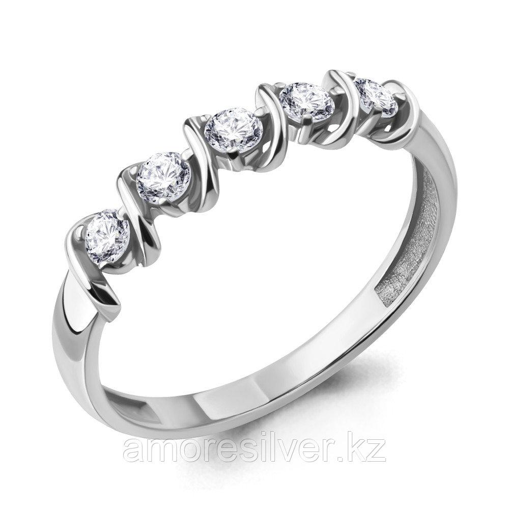 Кольцо Aquamarine серебро с родием, фианит 68706А.5 размеры - 16