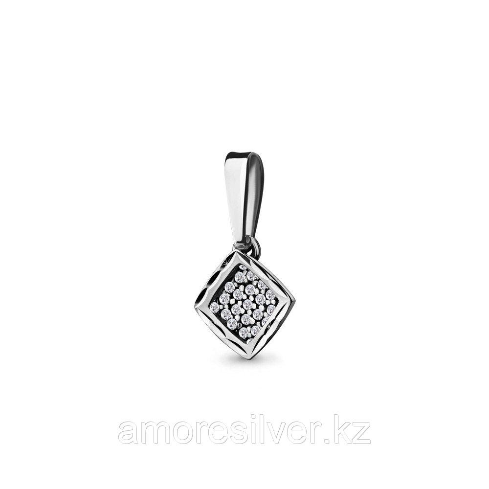 Подвеска Aquamarine серебро с родием, фианит, фантазия 21208А.5