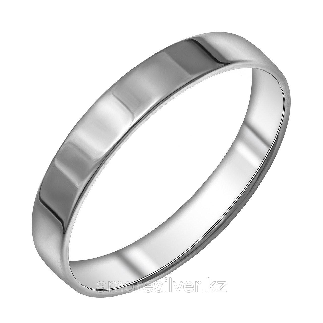 Кольцо  серебро с родием, без вставок 14-1022-23-00 размеры - 18