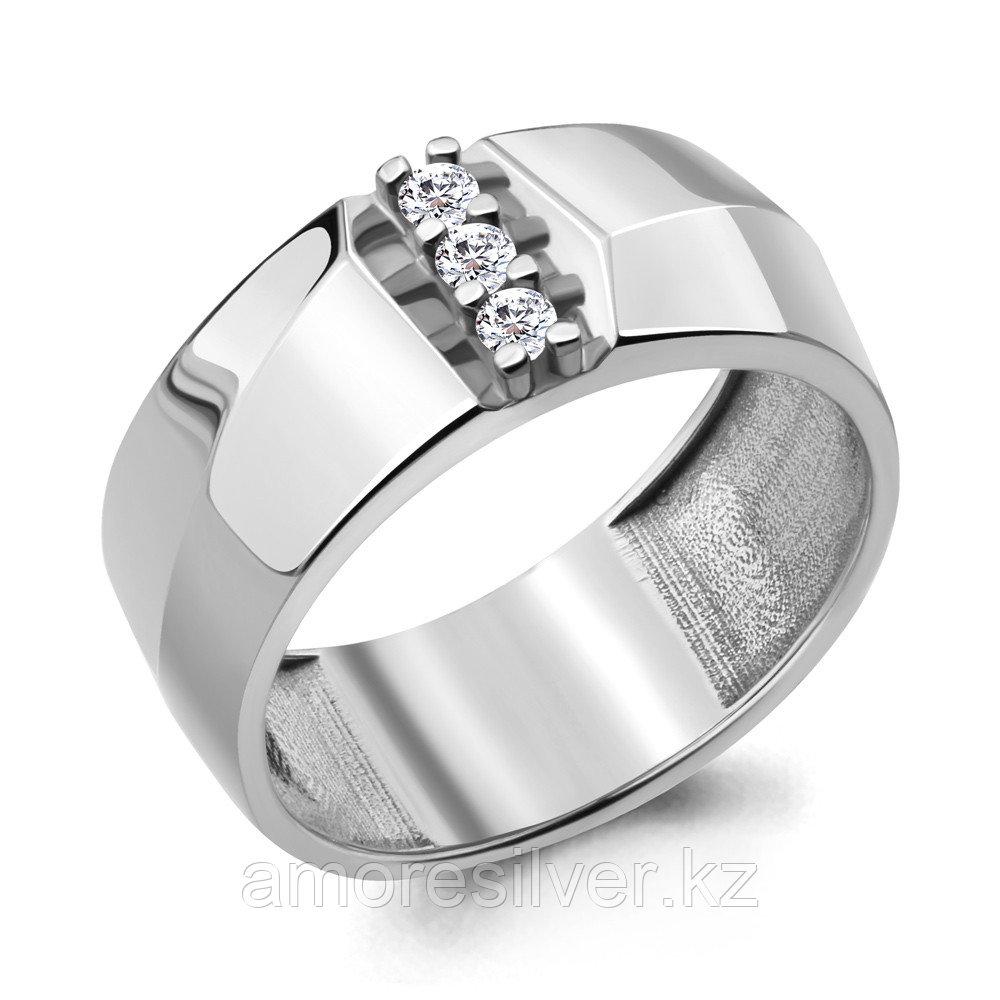 Кольцо Aquamarine серебро с родием, фианит, фантазия 68659А.5 размеры - 17,5 18,5