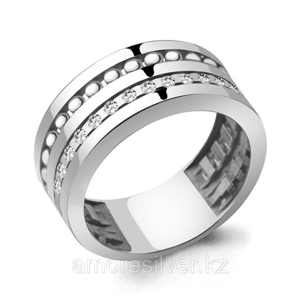 Кольцо Aquamarine серебро с родием, фианит, фантазия 68660А.5 размеры - 17,5 18,5