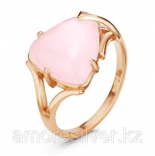 Кольцо Красная Пресня серебро с позолотой, кварц розовый, , треугольник 2339893К размеры - 18