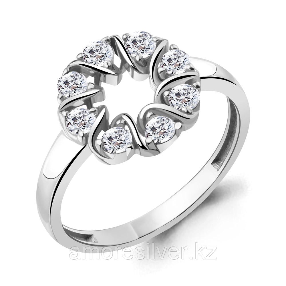 Кольцо Aquamarine серебро с родием, фианит, фантазия 68704А.5 размеры - 17,5