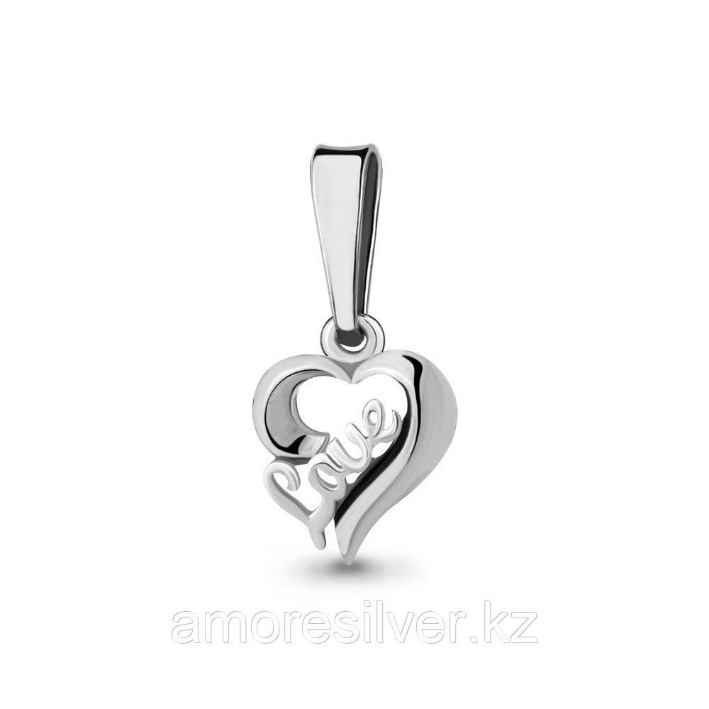 Подвеска Aquamarine серебро с родием, без вставок, love 16033.5