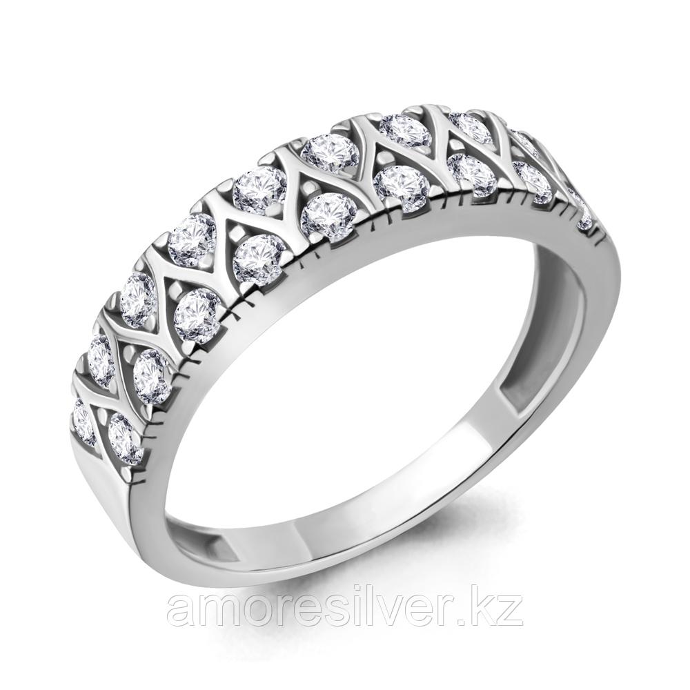 Кольцо Aquamarine серебро с родием, фианит, фантазия 68707А.5 размеры - 18