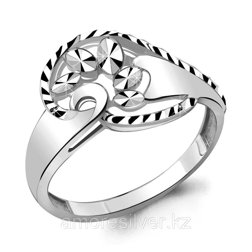 Кольцо Aquamarine серебро с родием, без вставок 54761.5 размеры - 17 18