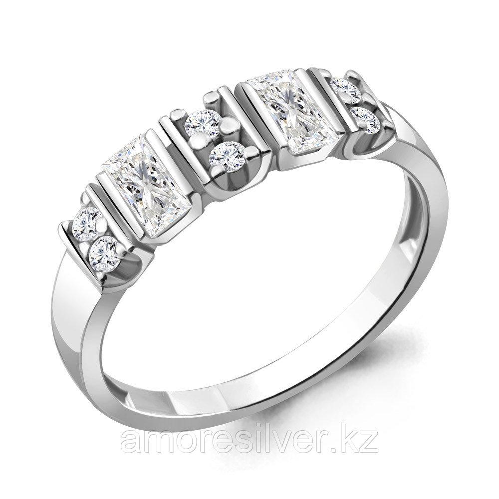 Кольцо Aquamarine серебро с родием, фианит 68699А.5 размеры - 17,5