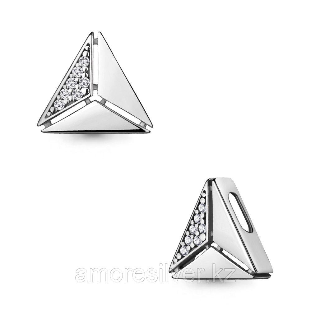 Подвеска Aquamarine серебро с родием, фианит, геометрия 24301А.5