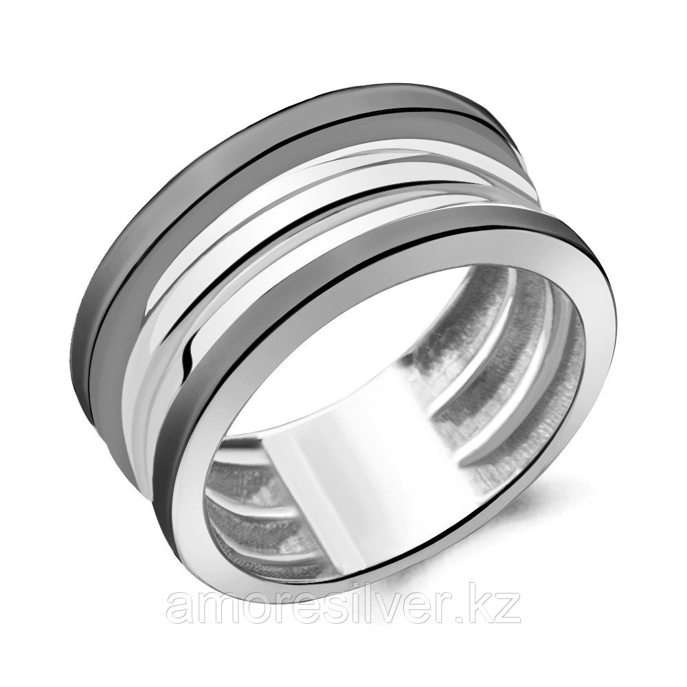 Кольцо Aquamarine серебро с родием, без вставок 54771.5 размеры - 19,5 20,5
