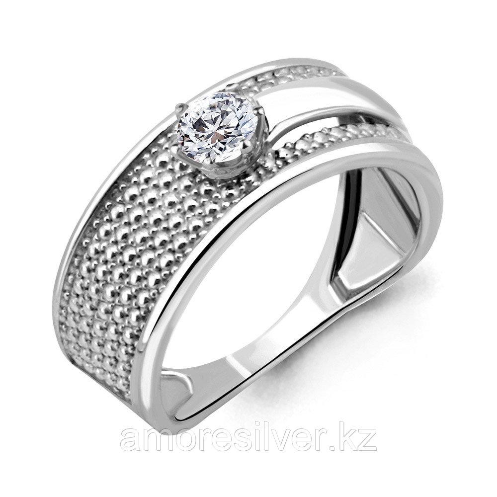 Кольцо Aquamarine серебро с родием, фианит, фантазия 68296.5 размеры - 18,5