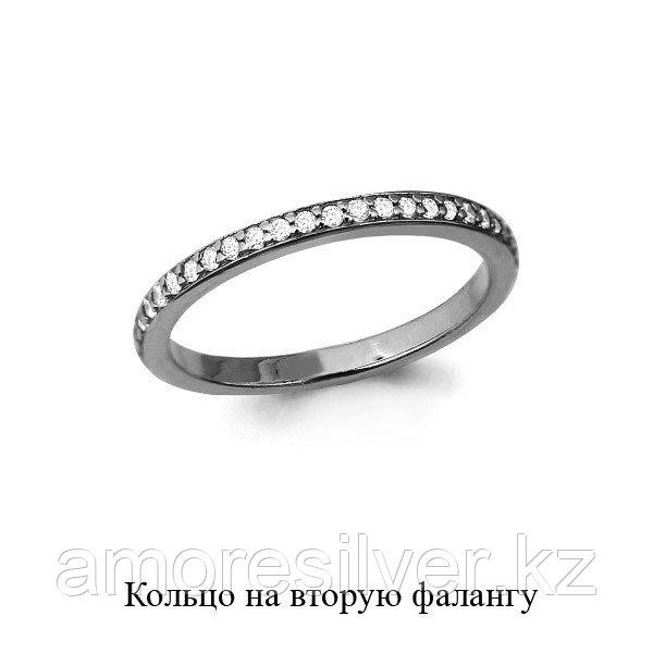 Кольцо Aquamarine серебро с родием, фианит, дорожка 67511А.5 размеры - 14