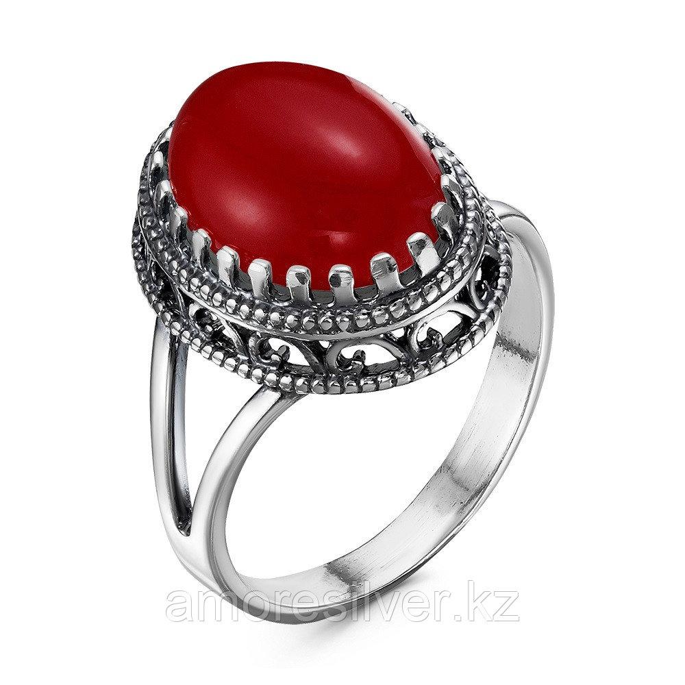 Кольцо Красная пресня , коралл иск., овал 2367096-8 размеры - 18