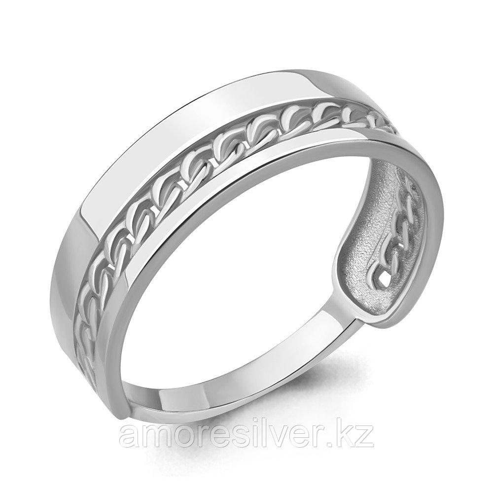 Кольцо AQUAMARINE серебро с родием, без вставок, геометрия 54779.5 размеры - 17,5