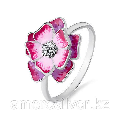 Кольцо Красносельский ювелирпром серебро с родием, фианит, флора 3647004087Л-1