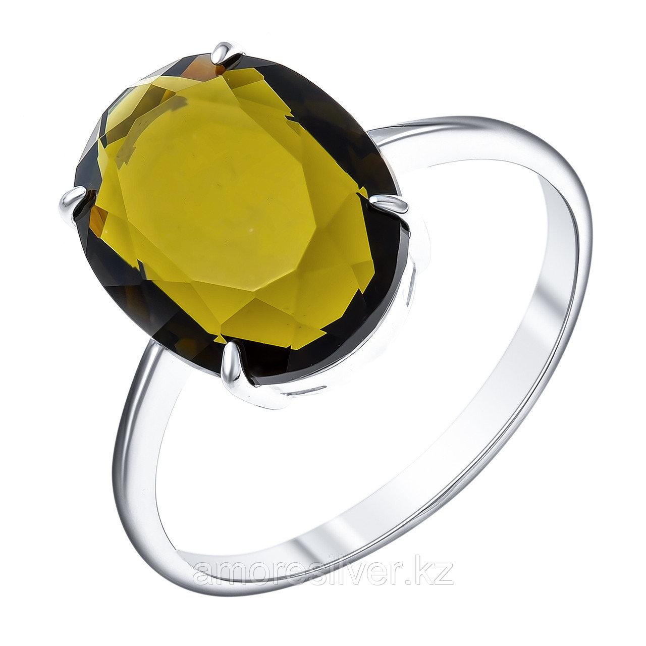 """Кольцо TEOSA серебро с родием, фианит, """"каратник"""" 100-1043TRN размеры - 19"""