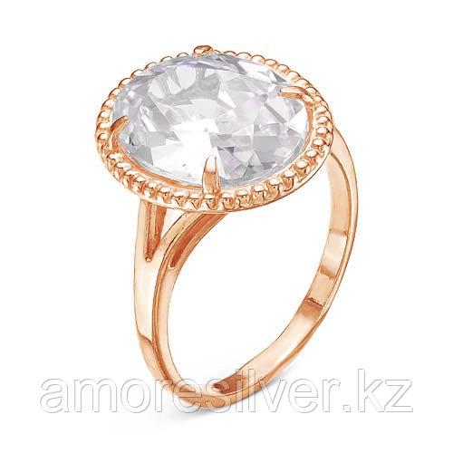 """Кольцо Красная пресня серебро с позолотой, фианит, """"каратник"""" 2388667 размеры - 19,5"""