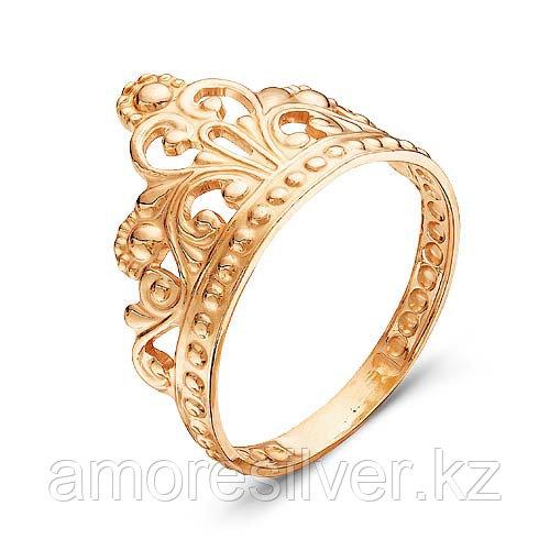 Кольцо Красная пресня серебро с позолотой, без вставок, корона 2307985
