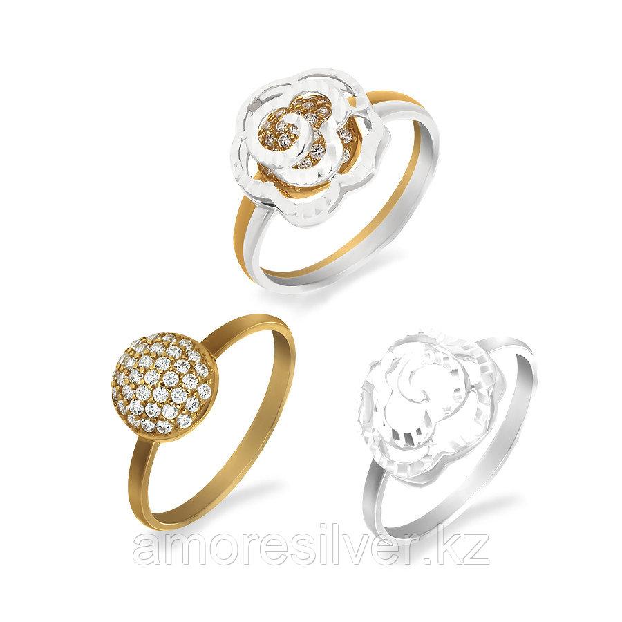 Кольцо Красносельский ювелирпром , фианит, круг 3207204191Л-2