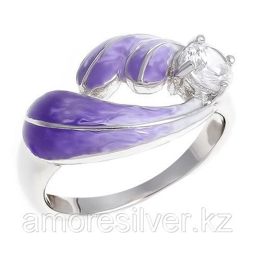 Кольцо TEOSA серебро с родием, фианит эмаль, модное R1103-CZS-RR-VW