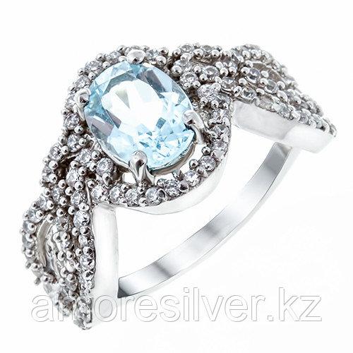 "Кольцо TEOSA серебро с родием, топаз фианит, ""halo"" DRGS00067-R-T"