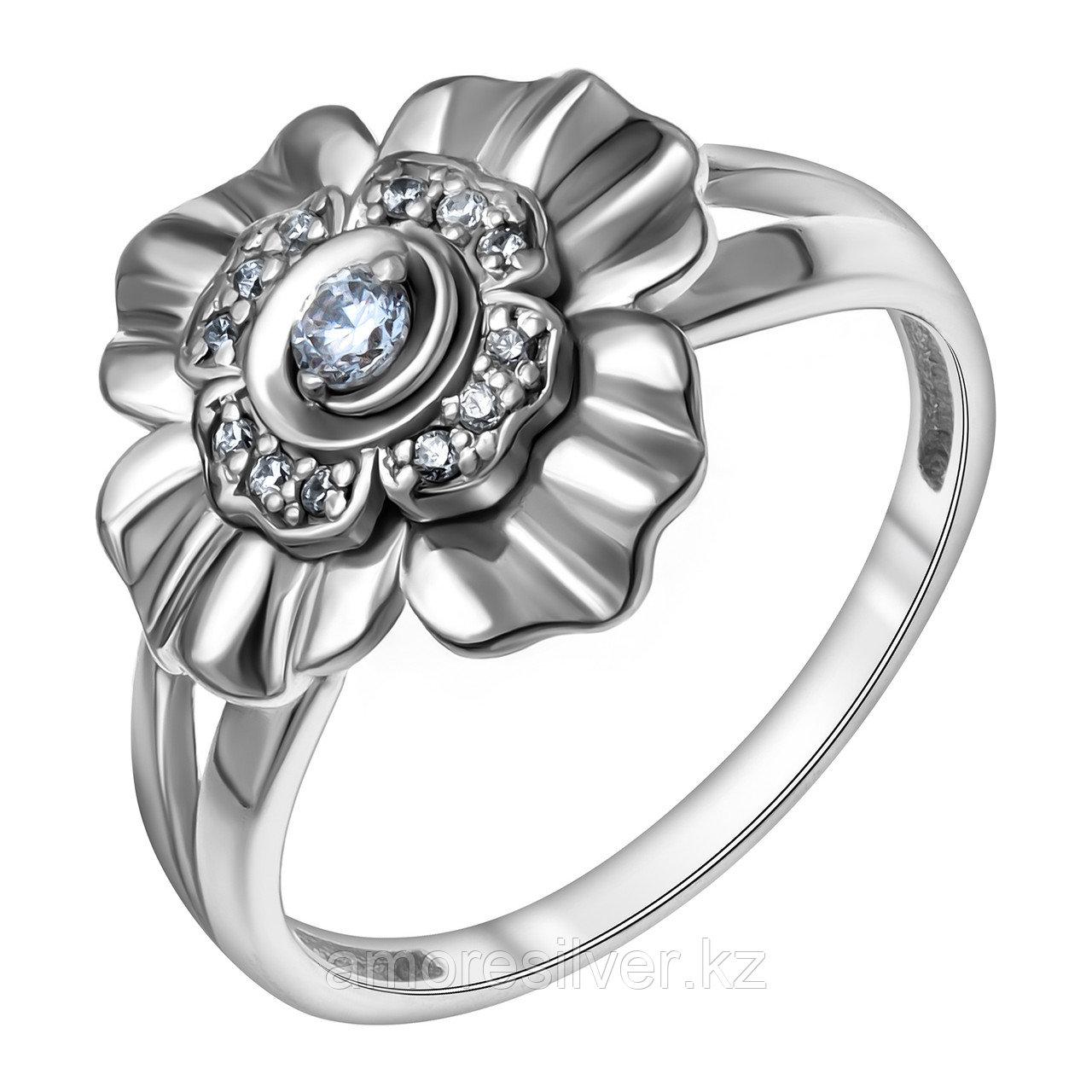 Кольцо Delta серебро с родием, фианит, флора с115939 размеры - 17