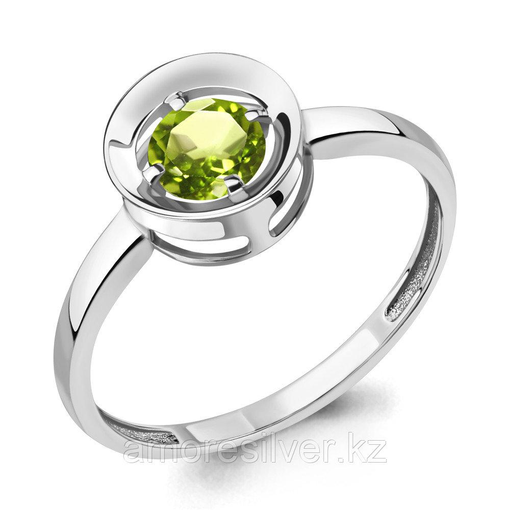 Кольцо AQUAMARINE серебро с родием, хризолит 6942007.5 размеры - 17,5