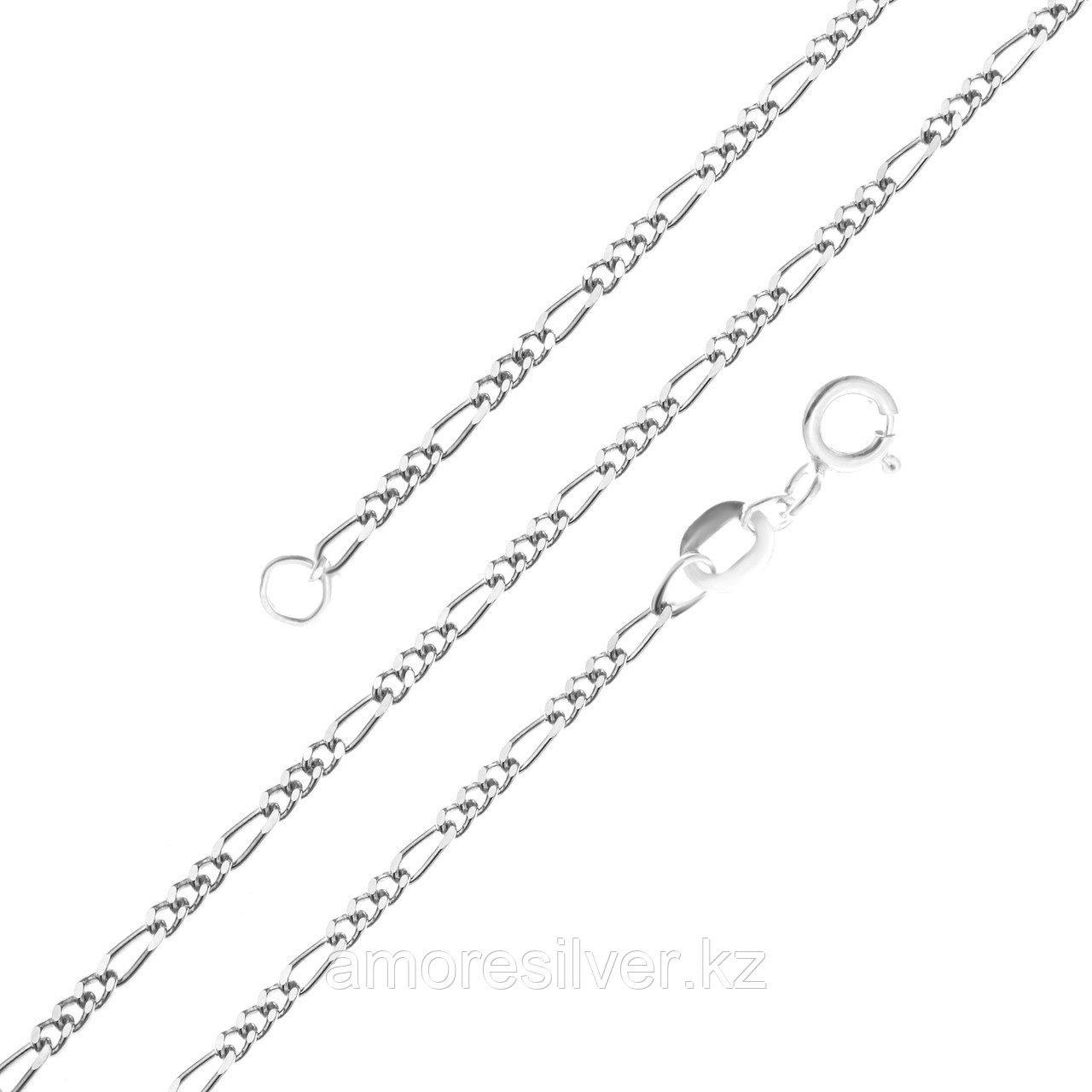 Цепь Красцветмет серебро с родием, без вставок, фигаро 1-3 НЦ 22-014-3-050 размеры - 50
