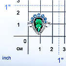 Кольцо TEOSA серебро с родием, фианит, многокаменка 100-904-EM-TS размеры - 17, фото 2