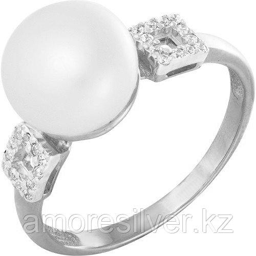 Кольцо TEOSA серебро с родием, жемчуг фианит, квадрат 190-5-525 размеры - 17 17,5 18