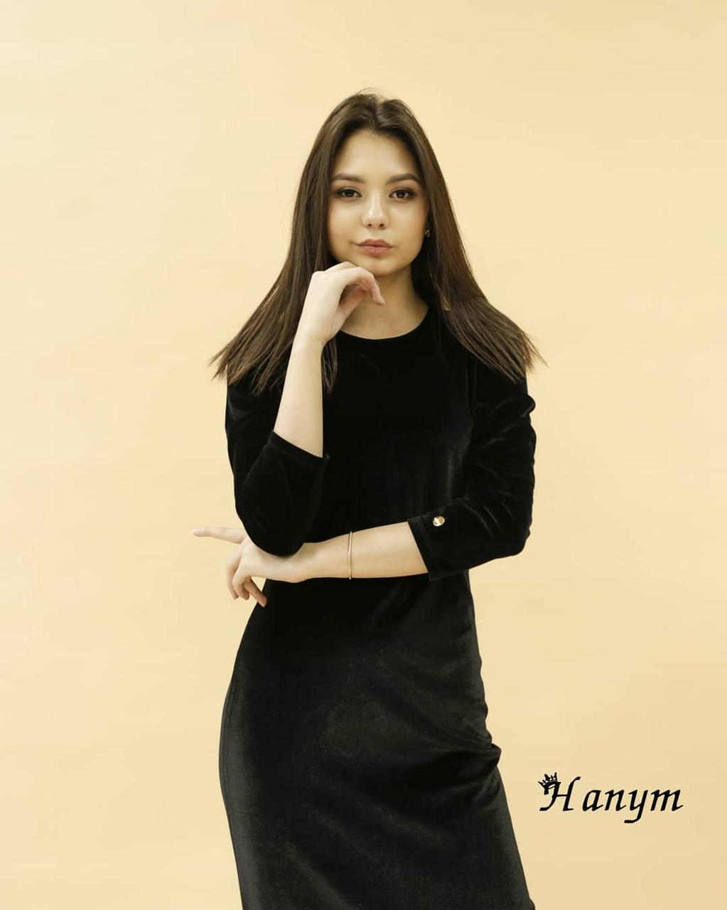 Платье коктейльное (Корея, королевский велюр) free size