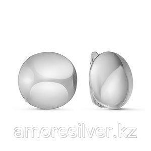 Серьги Delta серебро с родием, без вставок, круг с221049