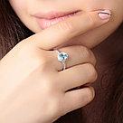 """Кольцо TEOSA серебро с родием, топаз фианит, """"halo"""" R-DRGR00622-T, фото 2"""