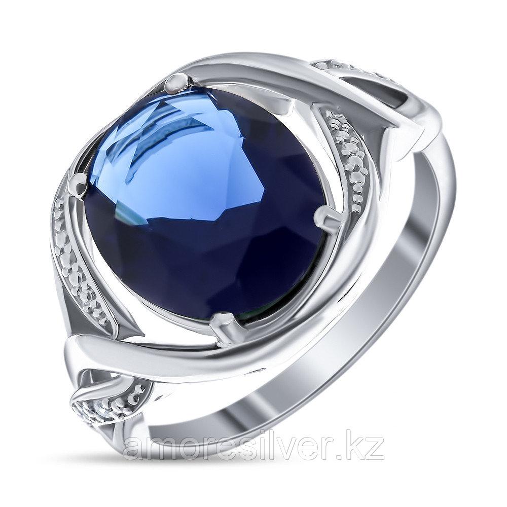 "Кольцо TEOSA серебро с родием, алпанит, ""halo"" 91003-SPC"
