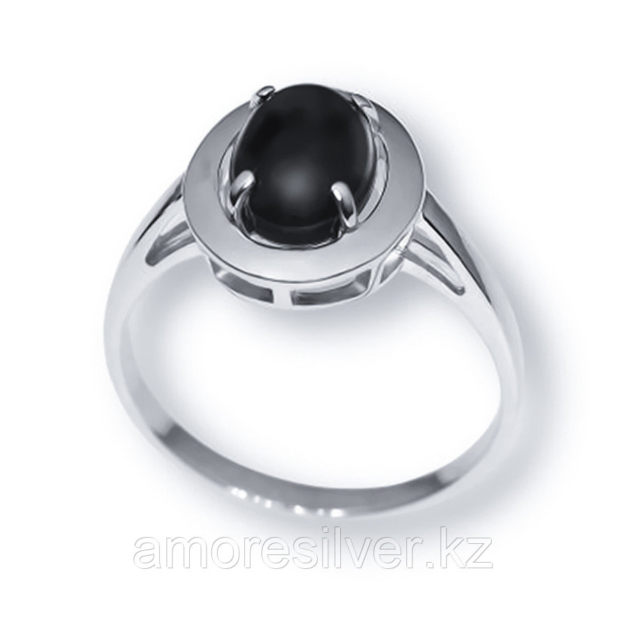 Кольцо Елана серебро с родием, кварц розовый, овал 211152