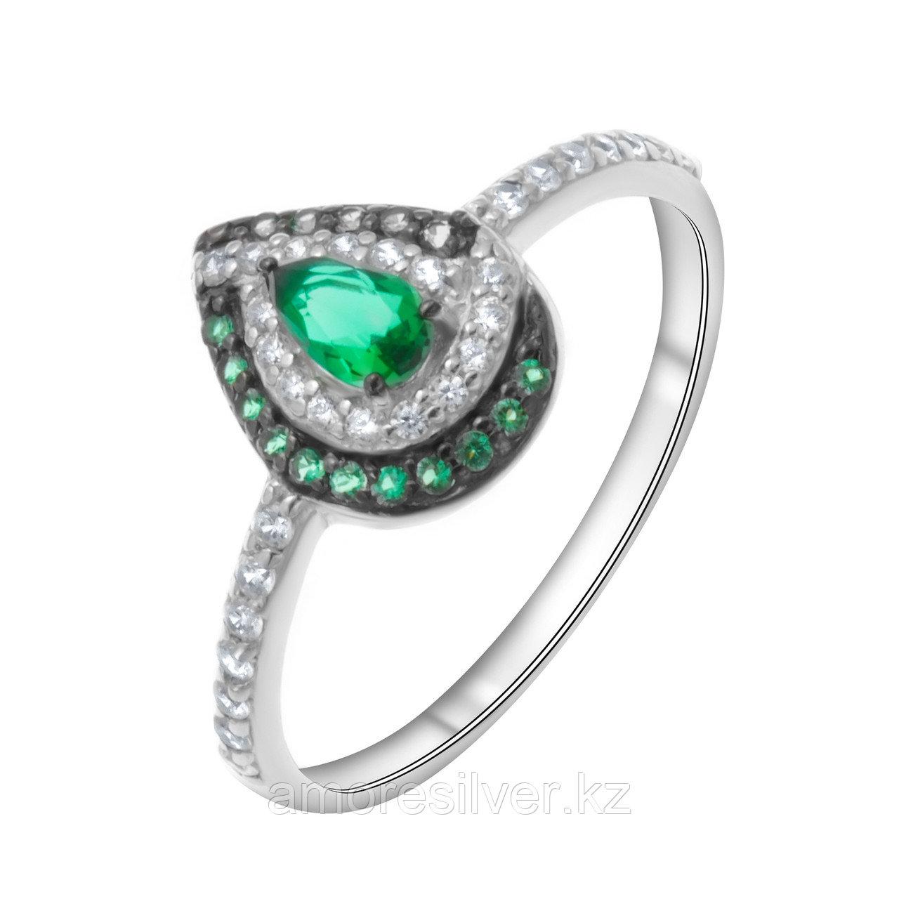 "Кольцо TEOSA серебро с родием, кварц синт., ""halo"" 1101047-04045 размеры - 17,5"