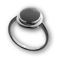 Кольцо Елана серебро с родием, халцедон, круг 210313 размеры - 16,5