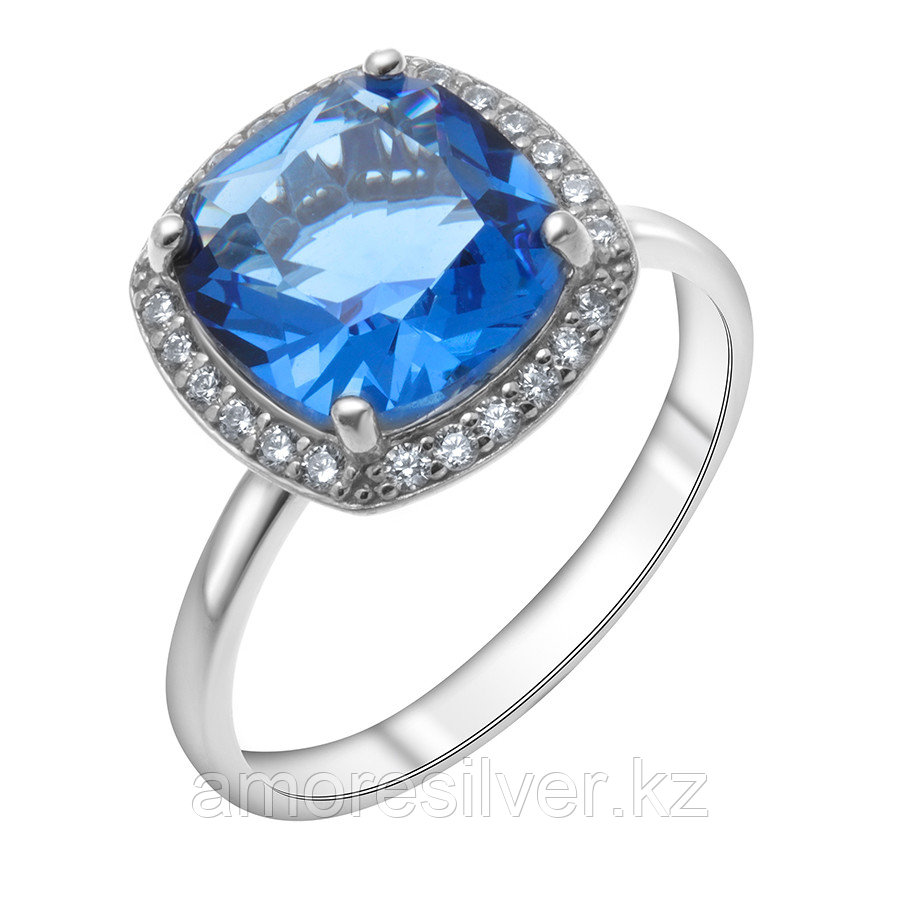 "Кольцо TEOSA серебро с родием, кварц синт., ""halo"" 1100984-03805 размеры - 19 20"