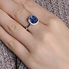 "Кольцо TEOSA серебро с родием, кварц синт., ""halo"" 1100984-03805 размеры - 19 20, фото 2"