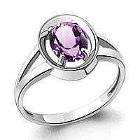 "Кольцо AQUAMARINE серебро с родием, аметист, ""halo"" 6941904.5 размеры - 18,5"