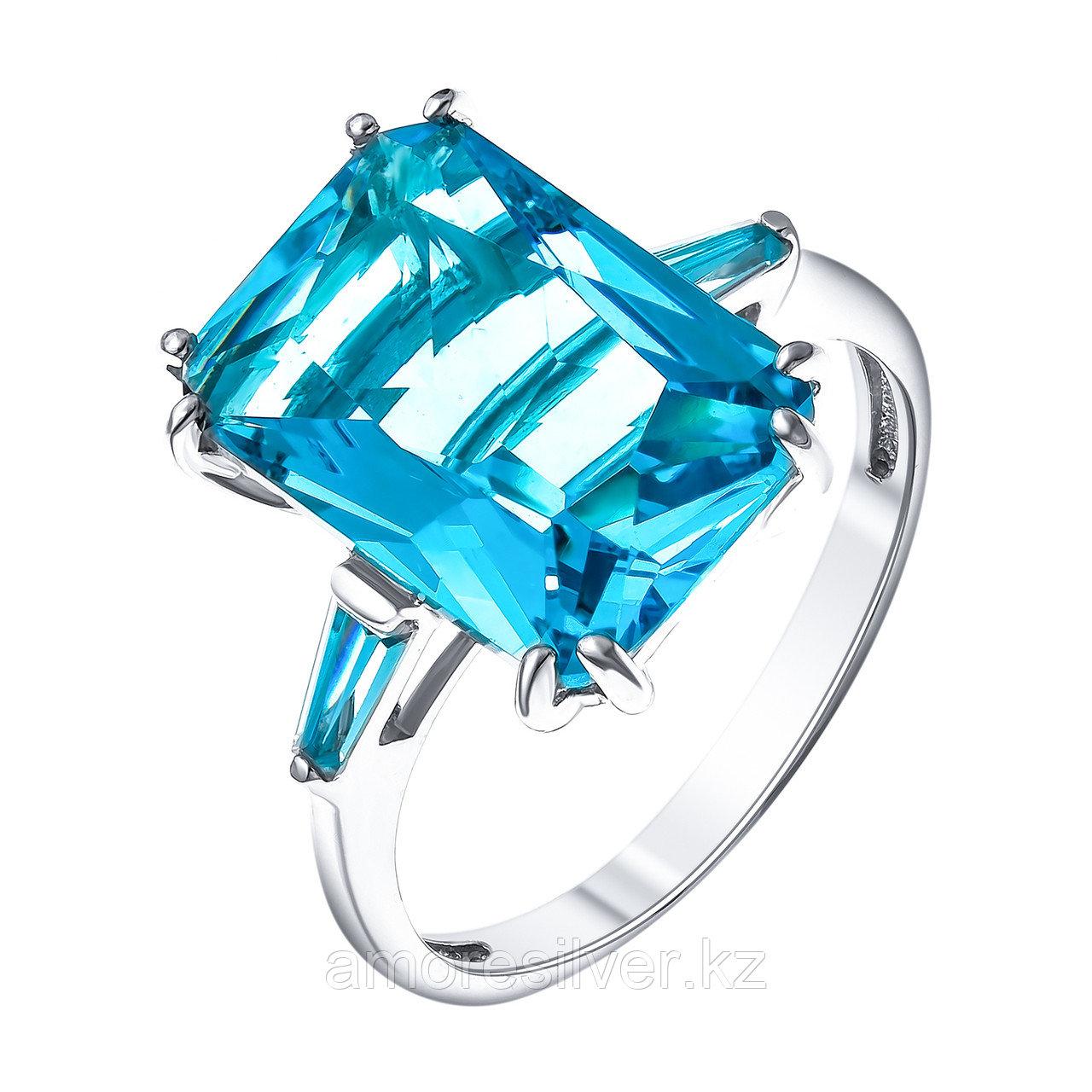 """Кольцо TEOSA серебро с родием, фианит синт., """"halo"""" 100-1292-TC размеры - 19"""