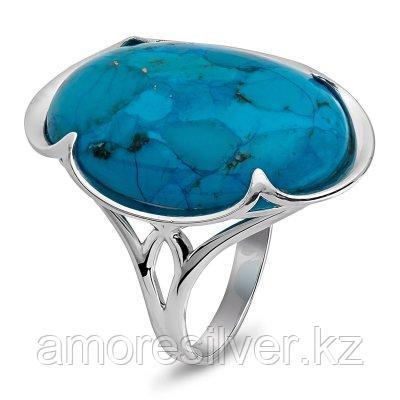 Кольцо Елана серебро с родием, бирюза бирюза синт. флюорит,  211578 размеры - 18,5