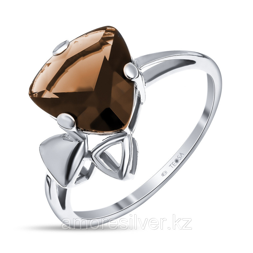 """Кольцо TEOSA серебро с родием, фианит, """"каратник"""" 100-1062 размеры - 17"""