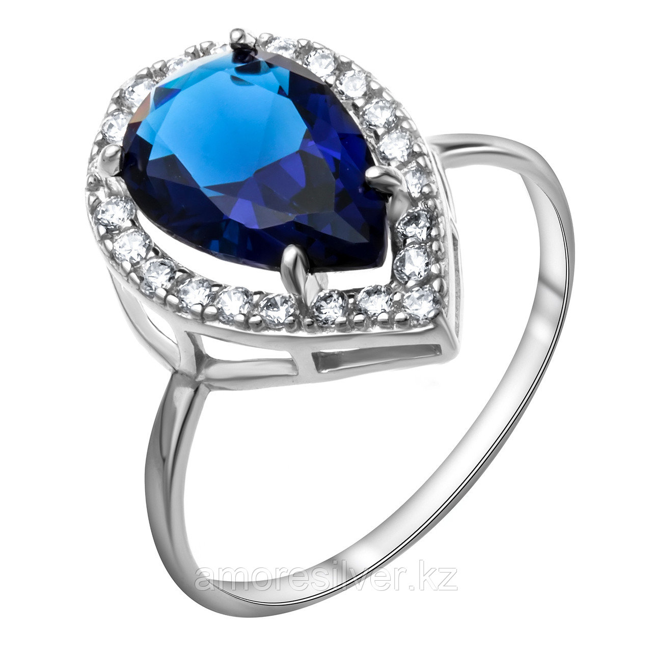"Кольцо Pokrovsky серебро с родием, кварц синт., ""halo"" 1100992-03505 размеры - 18,5"