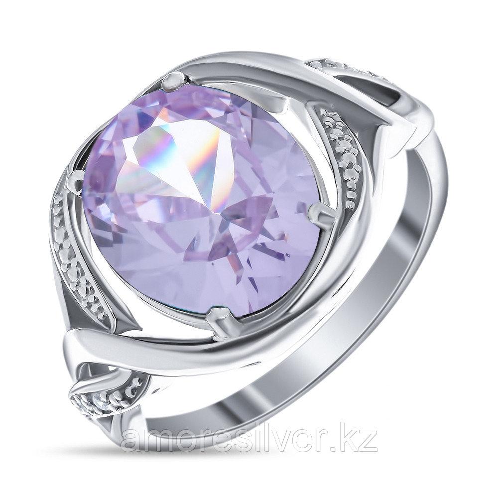 "Кольцо TEOSA серебро с родием, алпанит, ""halo"" 91003-AMC"